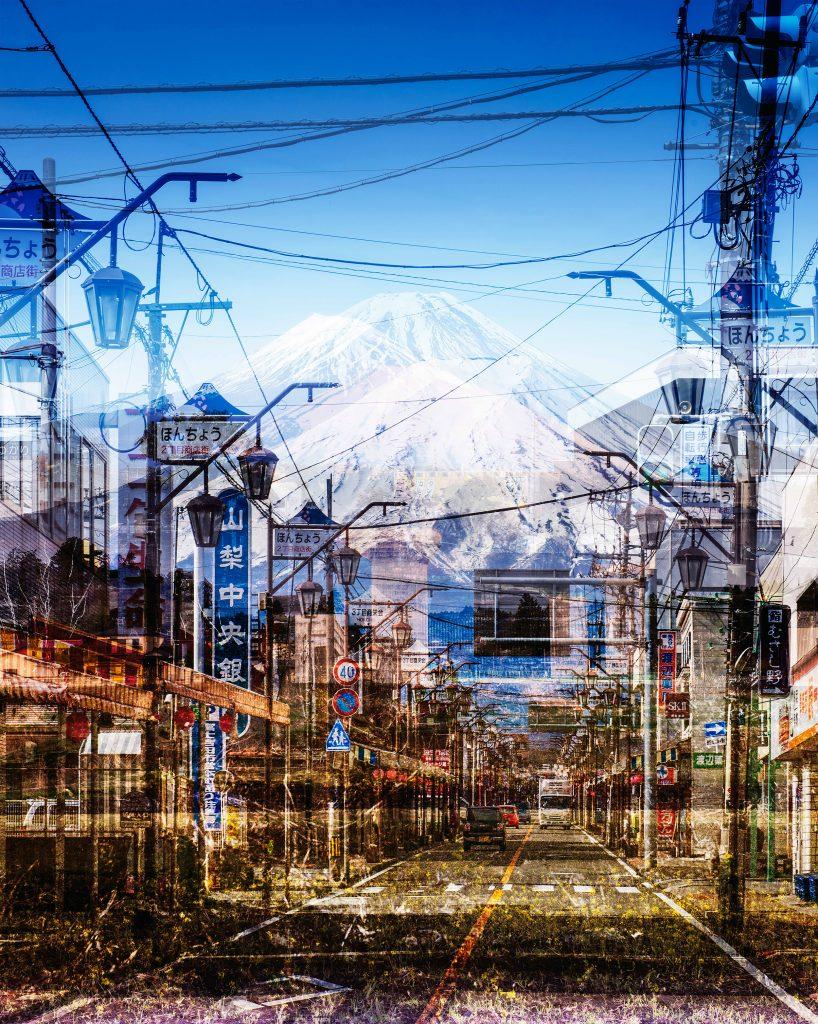 Orbiting Fuji – North, East, South, West.