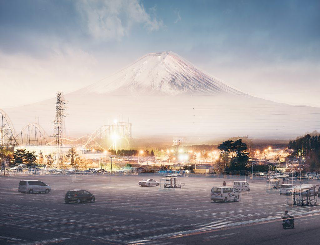 Orbiting Fuji – Sunrise, Midday, Sunset and Midnight.